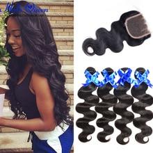 Braziilian Body Wave Brazilian Virgin Hair 3 Bundles With Closure Body Stema Hair With Closure Bundle And Closure Deals