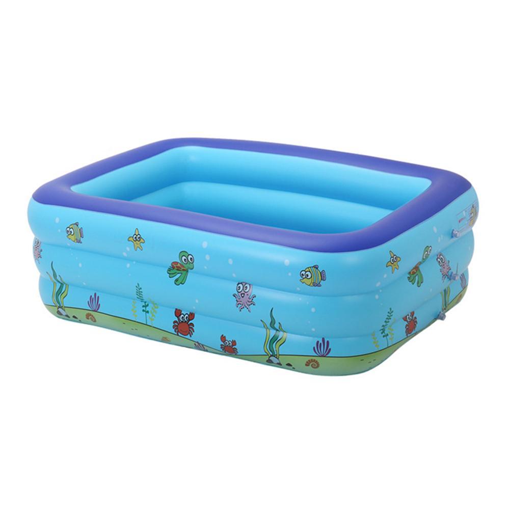 Piscines portatives pour enfants baignoire gonflable bébé piscine rectangulaire exploser piscines enfants jouets d'eau en plastique dur