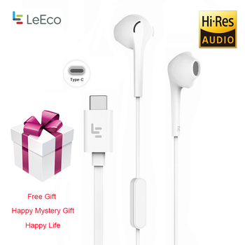 LeTV Leeco CDLA Type-C Earphone with 1.2m Length Wired Controller Microphone Headset with Free Gift for LeTV XiaoMi LePDH401CH