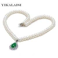 YIKALAISI 2017 mode natuurlijke zoetwaterparels ketting sieraden voor women7-8mm hoogtepunt ketting & hanger sieraden best gift