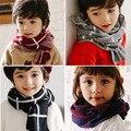 Мода мальчики и девочки дети шарф новый стиль осень зима толстый теплый шерстяной воротник ребенок плед шарф