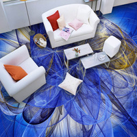 Custom 3D Floor Wallpaper Modern 3D Geometric Abstract Art Wall Mural Bathroom Kitchen Floor Sticker Decor