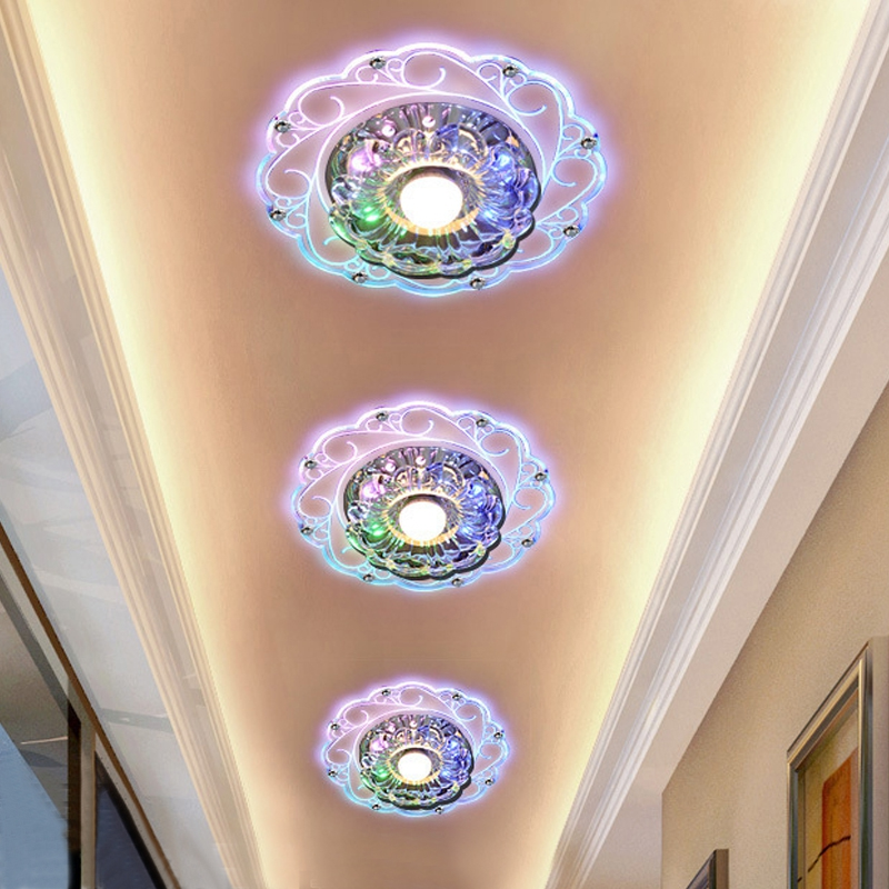 New Design Modern Corridor Mirror Ceiling Lamp Aisle Veranda Lighting Down Crystal Surface Mounted LED Ceiling Lights japanese style tatami floor lamp aisle lights entrance corridor lights wood ceiling fixtures tatami wood ceiling aisle promotion