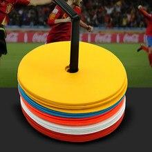 10 pçs campo plana discos marcador para o futebol de alta qualidade futebol basquete treinamento aids esportes entretenimento acessórios