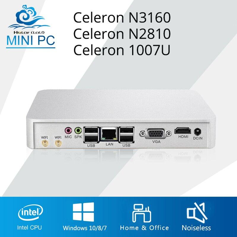 HLY Mini PC Intel Celeron N3150 J1900 quad core Mini Computer Celeron N2810 Windows 10 HDMI