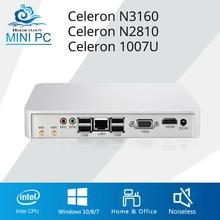 Mini PC Intel Celeron N3160 Mini Compute Celeron N2810 1007U Windows 10 Mini Desktop DDR3 RAM Computer PC