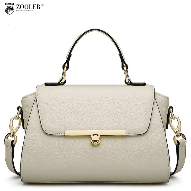 2018 ZOOLER BRAND Genuine Leather bag woman Handbags ladies Shoulder bags OL Style cowhide women bag simple luxury brand #2663 zooler lady handbag women cowhide leather handbags europe and america style genuine leather bags fashion menssenger shoulder bag