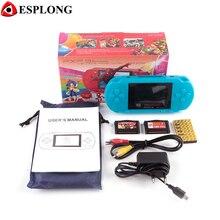 Портативный 16 бит PXP3 Ручные игры видео игровая консоль с аудио-видео кабель + 2 игровых карт классический детский игры PXP 3 тонкий станция