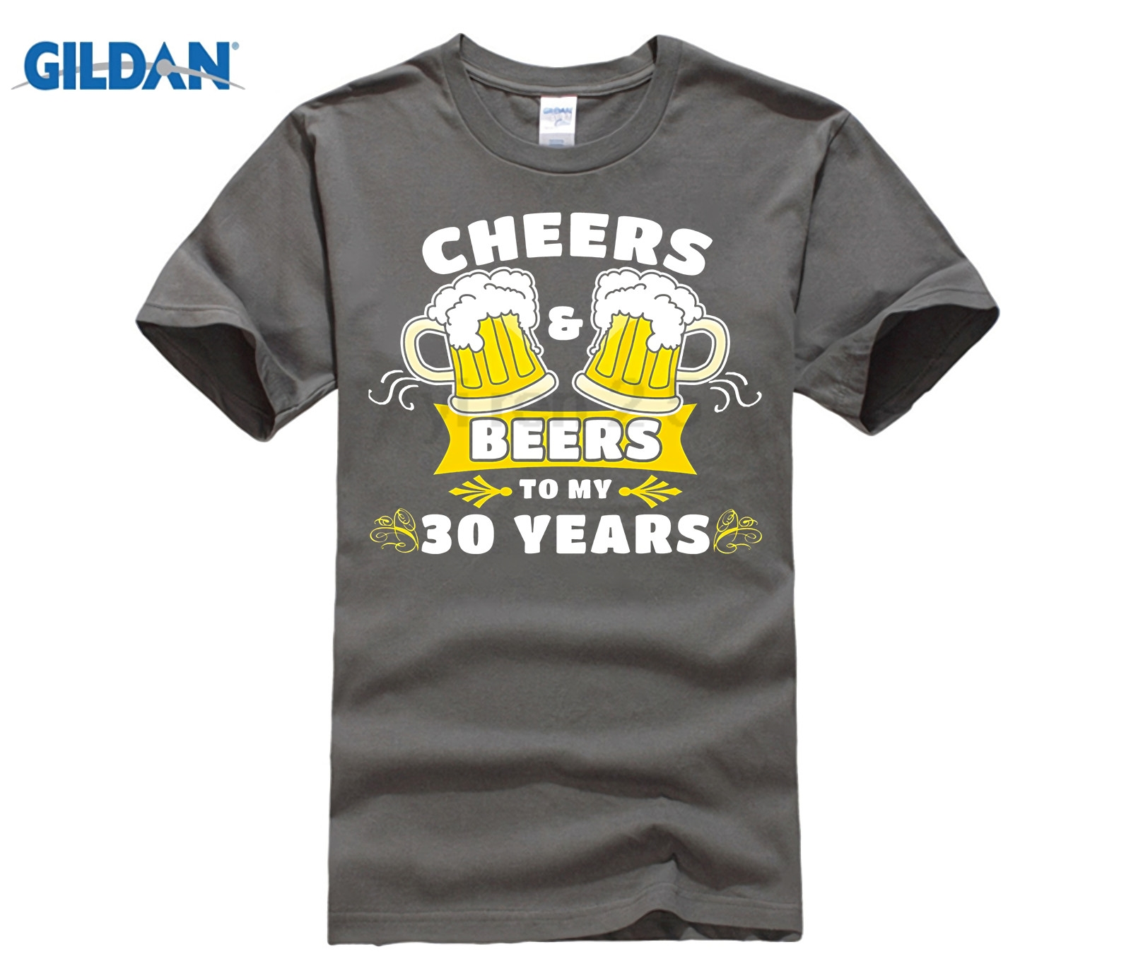 2fe5273cc GILDAN Cheers And Beers To My 30 Years T Shirt 30th Birthday Gift-in T-Shirts  from Men's Clothing & Accessories on Aliexpress.com | Alibaba Group