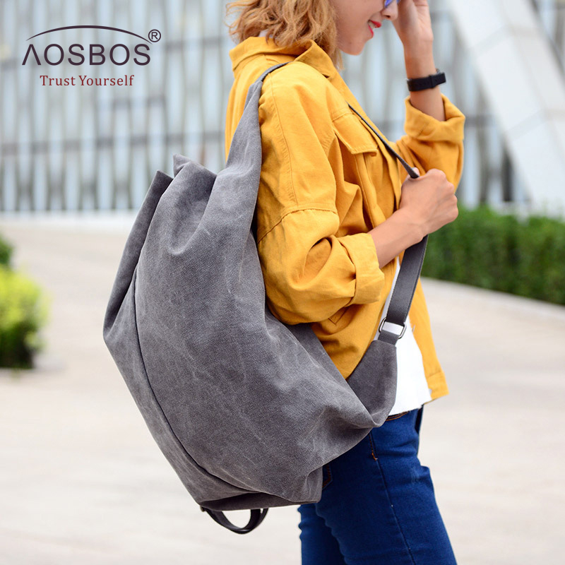 Aosbos Multifunction Canvas Gym Bag Women Sports Bag Backpack for Fitness Outdoor Travel Handbags Durable Training Shoulder Bags multifunction canvas sport bag training gym bag waterproof sports gym bag backpack for women fitness yoga travel luggage bags