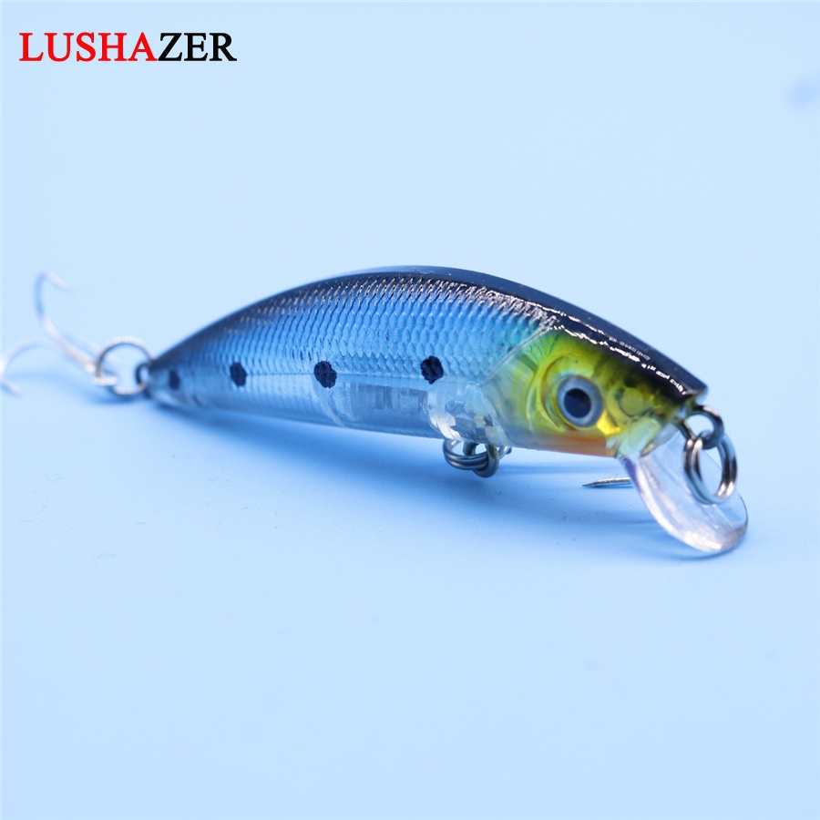 LUSHAZER Minnow fishing bait 8g 70mm carp fishing lures China wobbler isca artificial crankbait hard lure fishing tackle trulinoya minnow fishing lures 80mm 8g hard bait carp fishing bass lure swimbait sea fishing isca artificial fly fishing tackle
