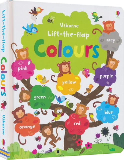 Usborne Lift The Flap Colours English Educational Picture Books Baby Childhood Learning Reading Book Gift