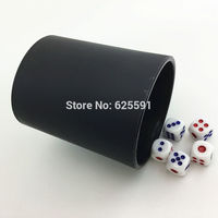 High Quality Plastic Elliptical Black Dice Cups 5pcs 16mm White Dice Ludo Playing