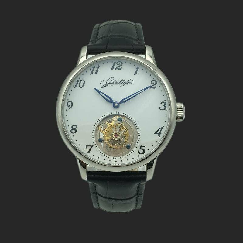 Mens Coaxial Tourbillon Watch Handwinding Mechanical Luxury SapphireMens Coaxial Tourbillon Watch Handwinding Mechanical Luxury Sapphire