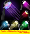 7 color Auto change Romantic LED Lighting Hand shower Bathroom Rainfall Shower Head massager chuveiro ducha douche banheiro 9047