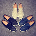 Man Shoes 2016 New Pu Leater Men Loafers Slip On Fashion Summer Casual Shoes Men Low Black Flat Shoes Driving Shoes Size 38-44