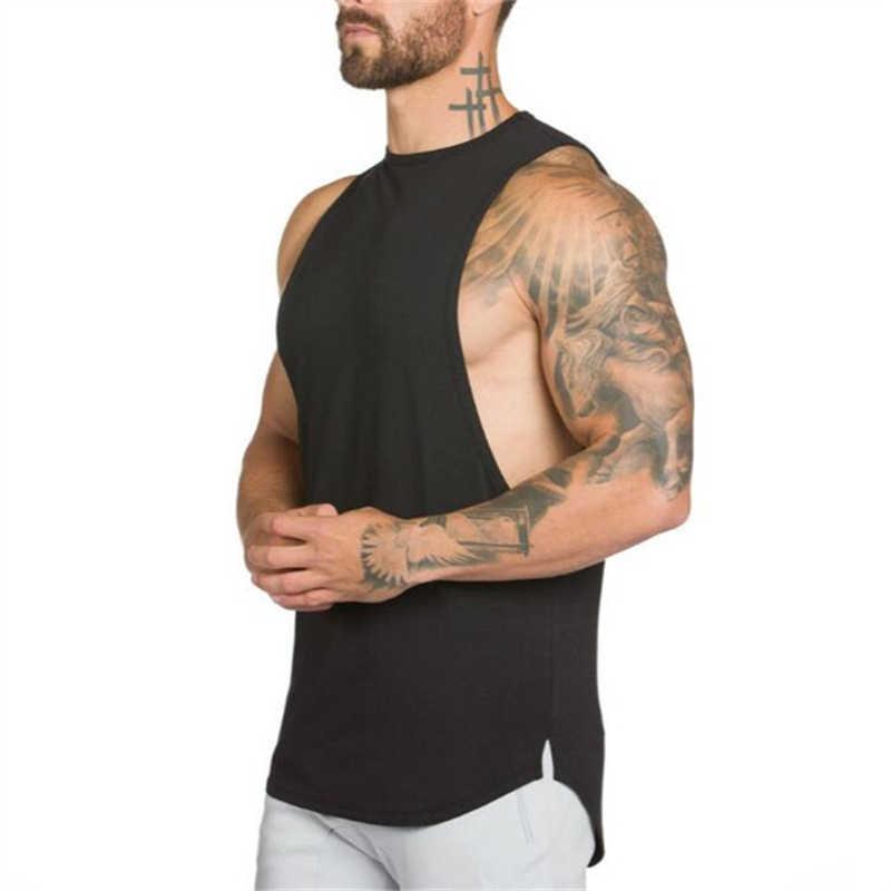 Брендовая одежда для фитнеса, мужской летний спортивный жилет для бега, без боли, без усиления, Спортзал Бодибилдинг, майка для бега, мужская рубашка без рукавов
