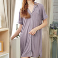 2017 Soft Modal Sleep Lounge Women Sleepwear Indoor Clothing Blouse Nightgowns Sexy Loose Home Dress Vintage Sweet Nightdress