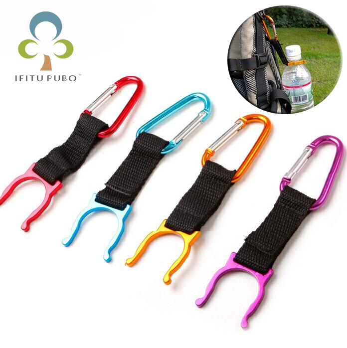 15pcs/lot camping Carabiner Water Bottle buckle Holder Clip For Camping Hiking survival Traveling tools WYQ