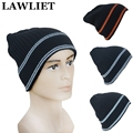 Acrylic Winter Autumn Solid Men Hip-Hop Winter Knitting Hats Casual Beanie Hats For Male Cool Man Sport Ski CapNovelty Hats A230