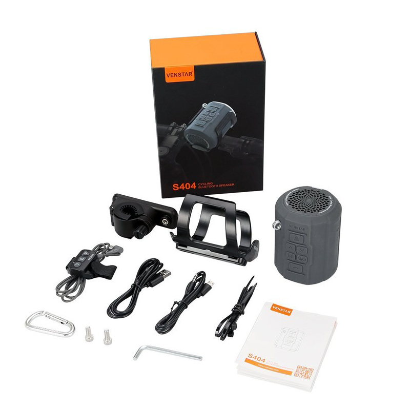 VENSTAR S404 haut-parleur Bluetooth Portable sans fil pour cyclisme Sport HiFi basse colonne avec Radio FM, support de vélo, télécommande - 6