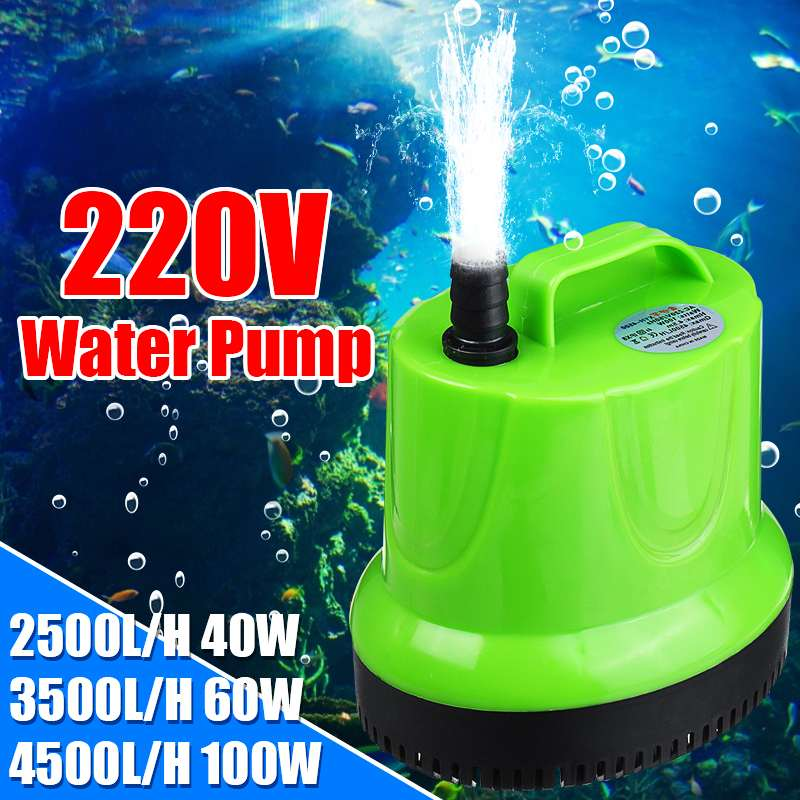 High Lift 2500/3500/4500 L/H Ultra-Quiet Submersible <font><b>Water</b></font> <font><b>Pump</b></font> Filter Fish Pond Fountain Aquarium Tank with Adapter image