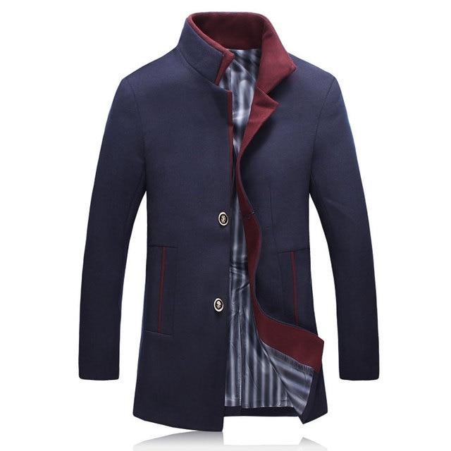 2017 весна новый стиль мужская мода досуга однобортный пиджак мужская повседневная шерстяные куртки пальто Бесплатная доставка