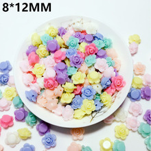 110Pcs/Pack Charm Flower Shape Acrylic Loose Beads Cute DIY Necklace Bracelet Candy Color Mix For Kids New Jewelry Making