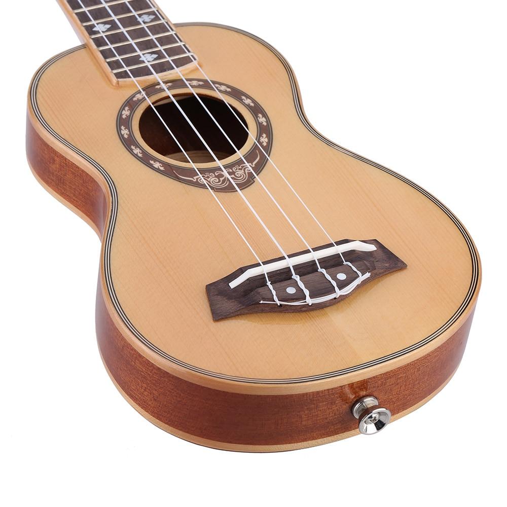 Musical Instruments 21 Ukelele Soprano Ukulele Spruce 42mm Slim Design Mahogany Fingerboard High Gloss Surface Smooth And Beautiful