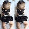 Crianças recém-nascidas Do Bebê Roupas Das Meninas Lace Macacão Bodysuit Headband Outfits Bodysuits Das Meninas Bonitos