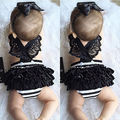 Newborn Kids Baby Girls Clothes Lace Jumpsuit Bodysuit Headband Outfits Cute Girls' Bodysuits