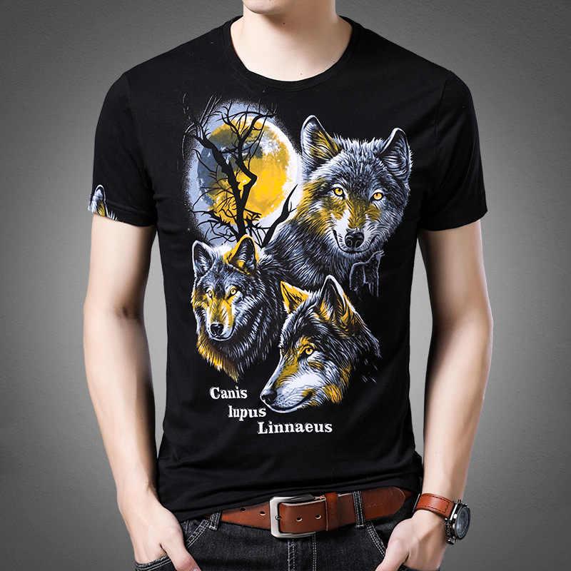 LH213 креативные волки шаблон 3d печать модная футболка с коротким рукавом лето 2019 Новая высококачественная хлопковая Роскошная Футболка Мужская luxury