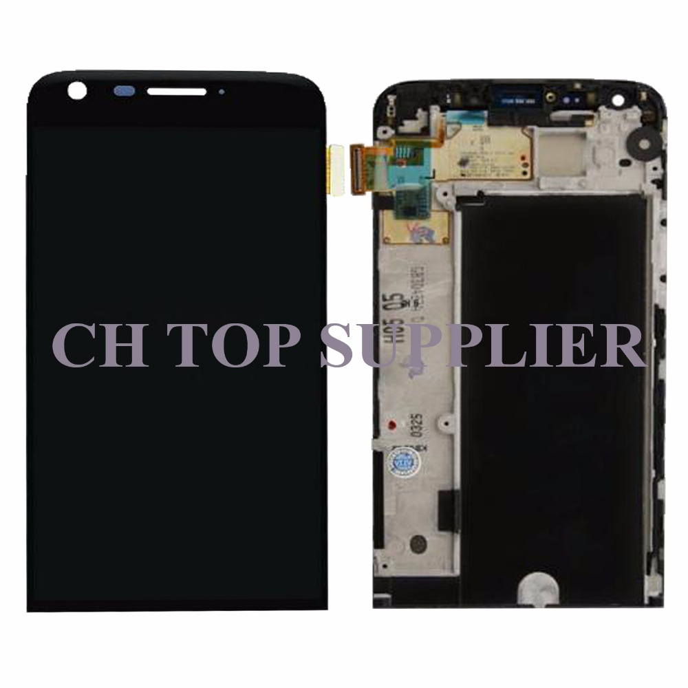 For LG G5 H850 LCD Display with Touch Screen Digitizer Assembly With Frame+Tools Black replacement Free Shipping+tracking NO new lcd touch screen digitizer with frame assembly for lg google nexus 5 d820 d821 free shipping