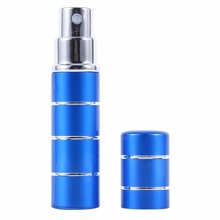 Red/Blue/Rose Red/Yellow/Black 5ml Travel Mini Portable Aluminium Refillable Empty Atomizer Perfume Bottles Cosmetic Containers