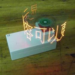 Cross rotating LED dot matrix screen display screen electronic parts package electronic production DIY graduation design contest
