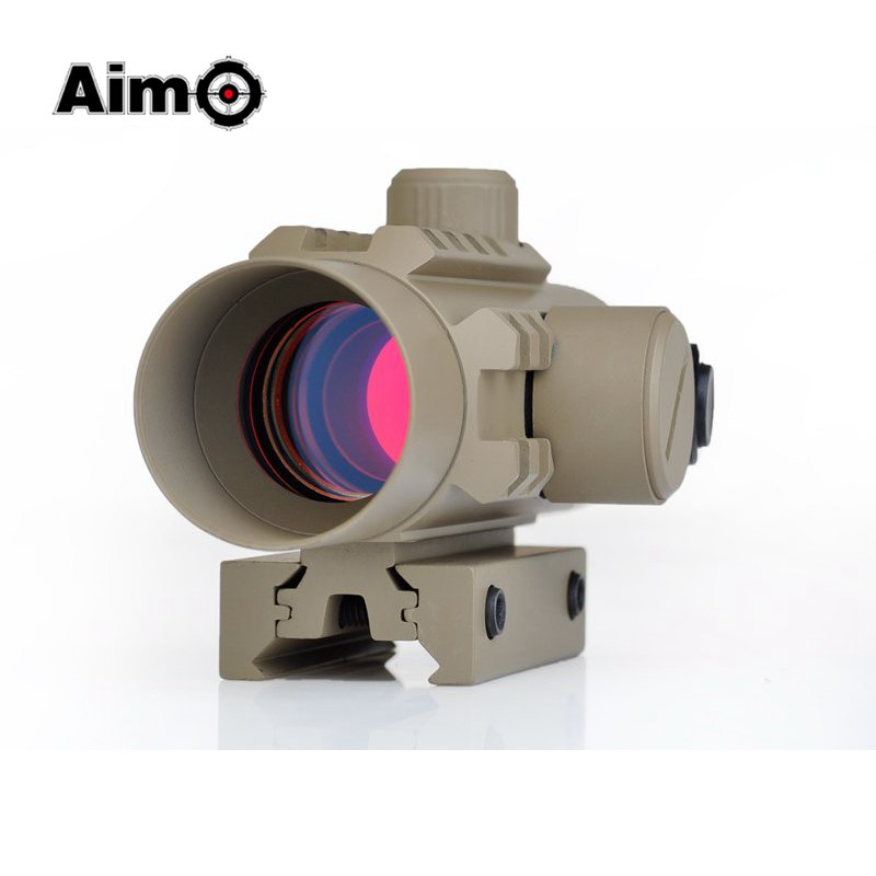 Aim-O Tactical Delta Red Dot Riflescope Holographic Sight Rifle Scope 11mm 20mm Weaver Mount For Hunting Air Gun AO3017