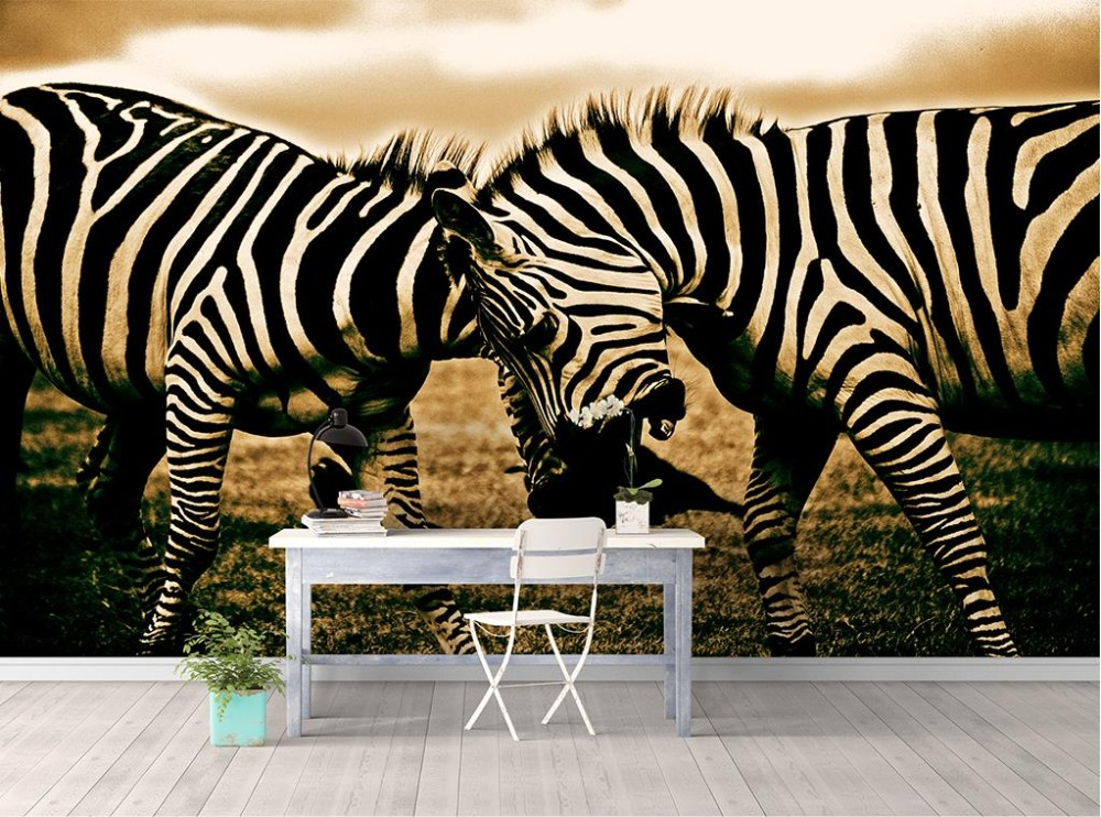 Europe and the United States Wallpaper roll Clear Retro Zebra stripes 3d Wall Murals Wallpaper Custom size Background Wall чехлы для рапир москва