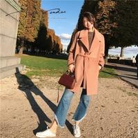 Jupe vendue إمرأة الشتاء أزياء 50% معطف الصوف الدانتيل يصل الدافئة