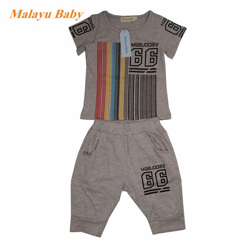 camiseta + shorts calças 2 pçs roupas infantis casuais