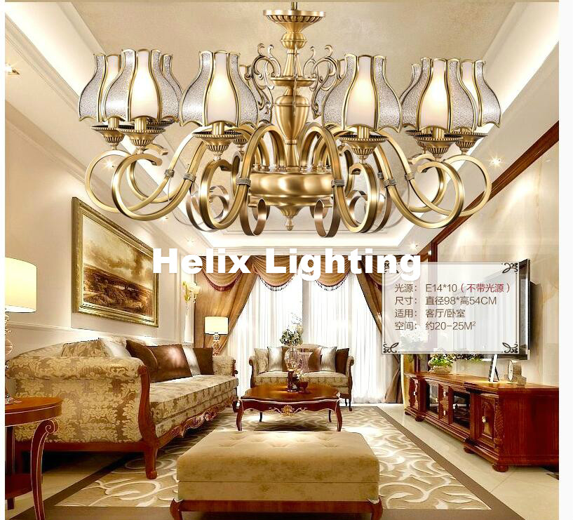 New Arrival European Candle Modern chandelier light Antique Brass color lighting modern decoration lamp study light bedroom lamp n light 407 06 53abw antique brass walnut