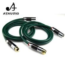 ATAUDIO une paire FA-220 câble Hifi XLR haute qualité OCC 2 XLR mâle à femelle câble Audio