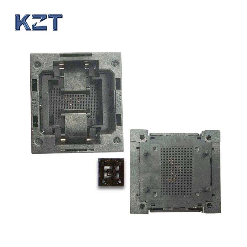 eMMC153/169 Reader Test Socket IC Body Size 11.5x13mm Pitch 0.5mm BGA153 BGA169 Burn in Socket Adapter Flash Data Recovery bga24 to dip8 ic adapter socket for 8x6mm body width bga chips