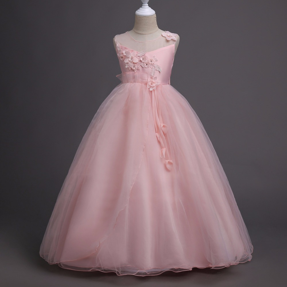Kids Dresses For Girls Children Princess Clothes Kids 5 6 7 8 9 10 11 12 13 Years Long party dress Girls Wedding Gowns girls princess party dresses 4 long sleeve striped kids dresses for girls 6 preppy style bottoming dress 8 ball gowns 10 12years