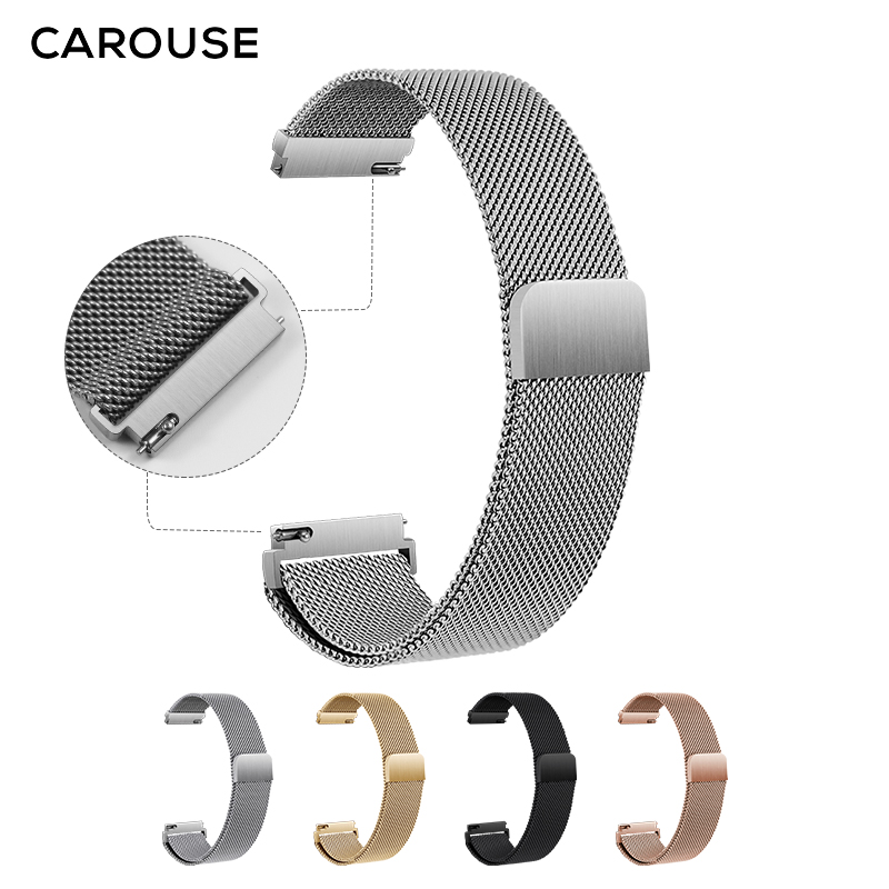 Carouse 22mm 20mm For Samsung Galaxy Watch Active 42mm 46mm Gear Sport S2 S3 Frontier Classic Strap Huami Amazfit Bip&huawei GT