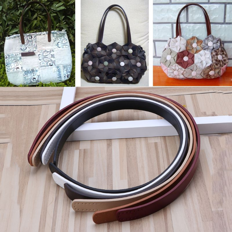 Fashion New 1 Pc Women Girls PU Leather Purse Shoulder Handbag DIY Sewing Strap Handle Replacement 6 Colors Bag Accessories