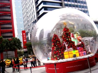 inflatable snowflake ball or inflatable Snowdome 2 M diameter snow globe exhibition start business  Christmas 3m diameter empty inflatable snow ball for advertisement christmas decorations giant inflatable snow globe