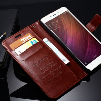 For Xiaomi Redmi Note 4 Case TOMKAS Original Vintage Leather Phone Bag Cover Flip Wallet Case