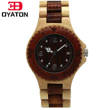 Analogue Luxury Wooden Watch for Women Newest Quartz Watch Maple Walnut Wood Wrist Watch for Girls Orologi Ladies Watch OYATON