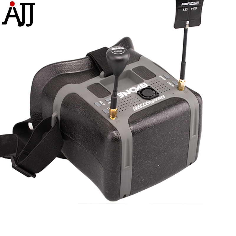 BeeRotor BVONE 5.8G 40CH FPV DVR Goggles Panel Antenna Video Glasses 800*480 5 LCD V3 For RC Drone Mulit-rotor VR Goggles 5 8g 11dbi 200mw panel antenna w 5 8g right angle tx sma female antenna gains for fpv