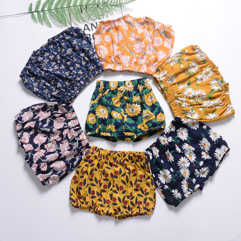 Baby Large PP   Shorts   Baby Girl   Shorts   Infant Floral Cotton Linen Bloomers Toddler Girls Bread Pants Baby Girl Clothes